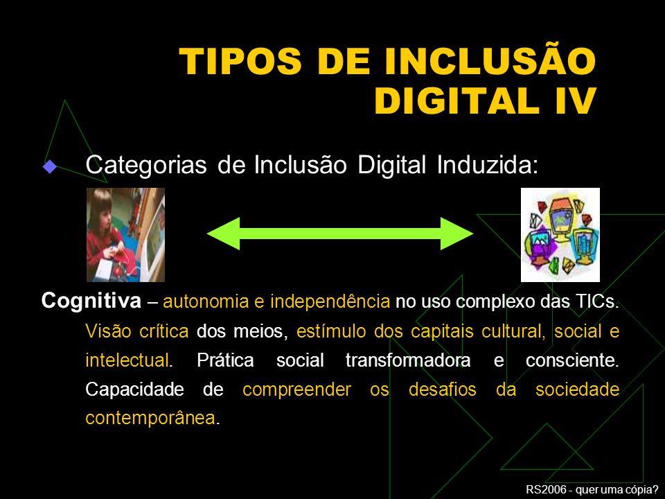 TIPOS DE INCLUSÃO DIGITAL IV