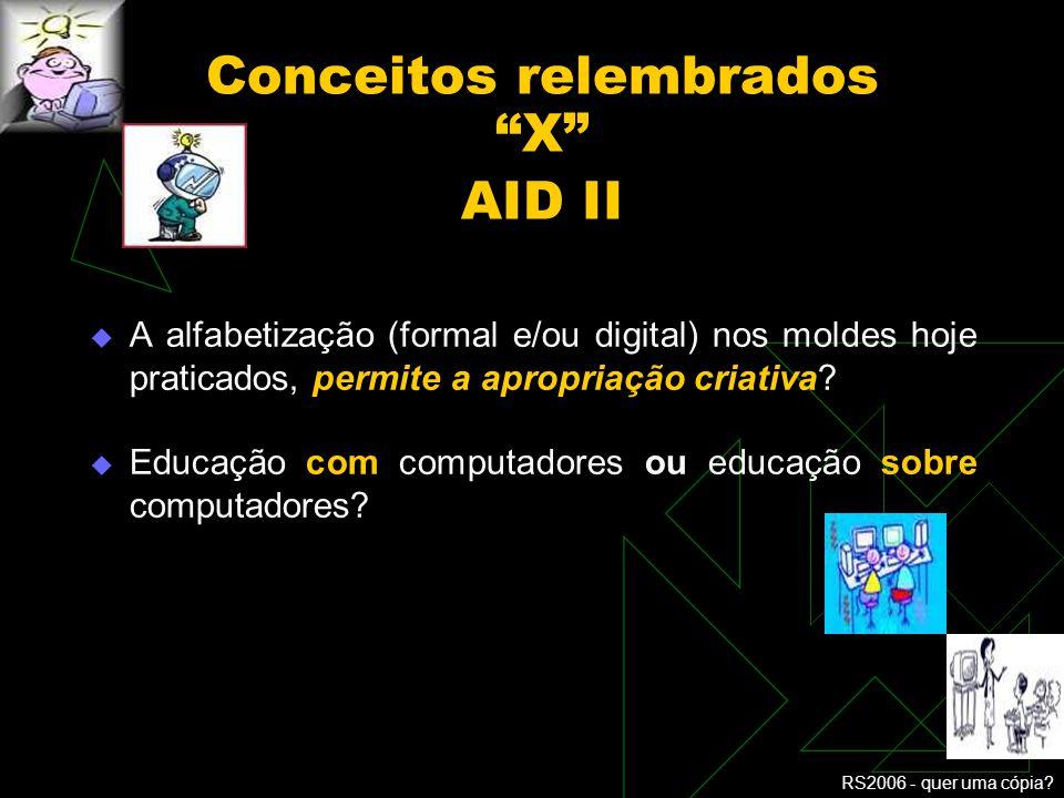 Conceitos relembrados X AID II