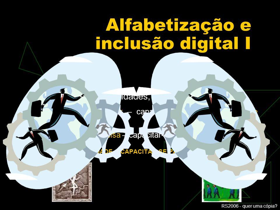 Alfabetização e inclusão digital I