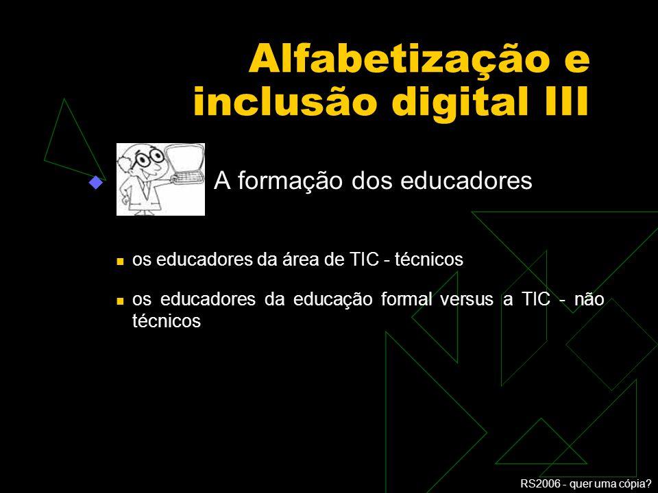Alfabetização e inclusão digital III