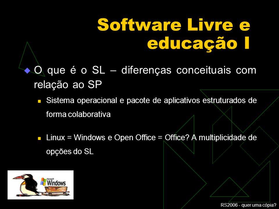 Software Livre e educação I