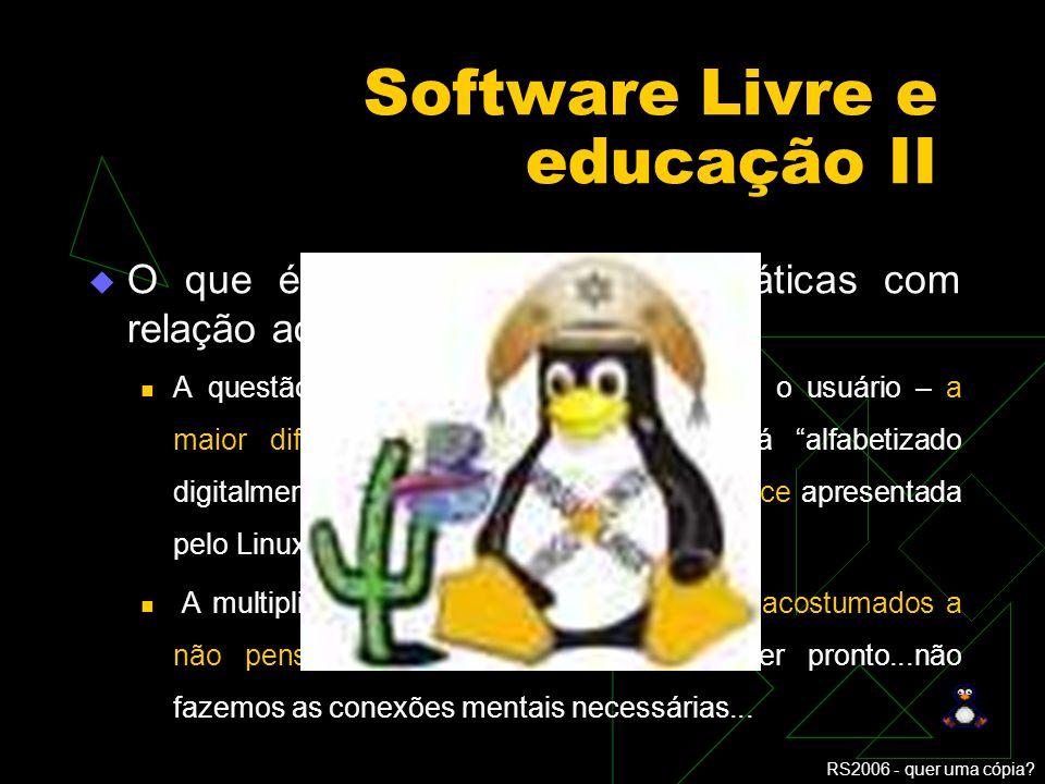 Software Livre e educação II