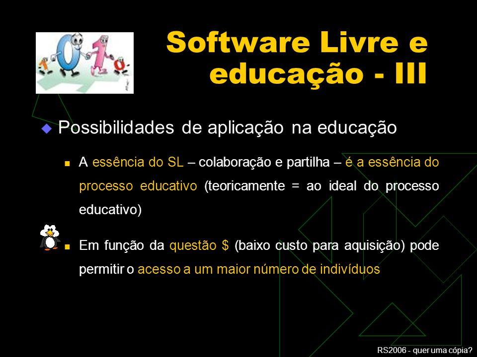 Software Livre e educação - III