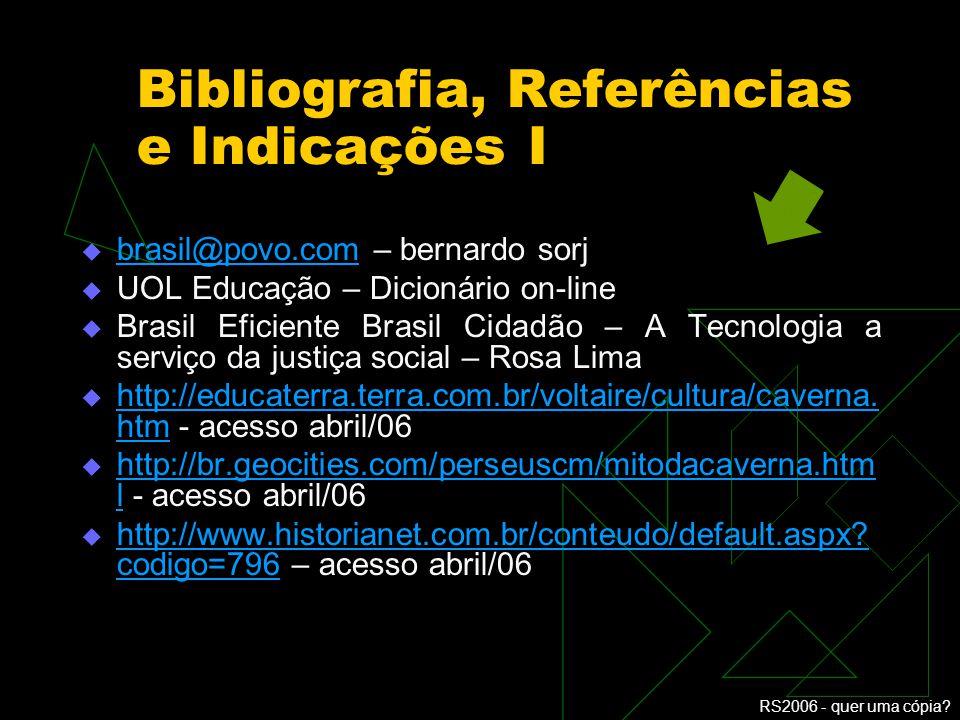 Bibliografia, Referências e Indicações I