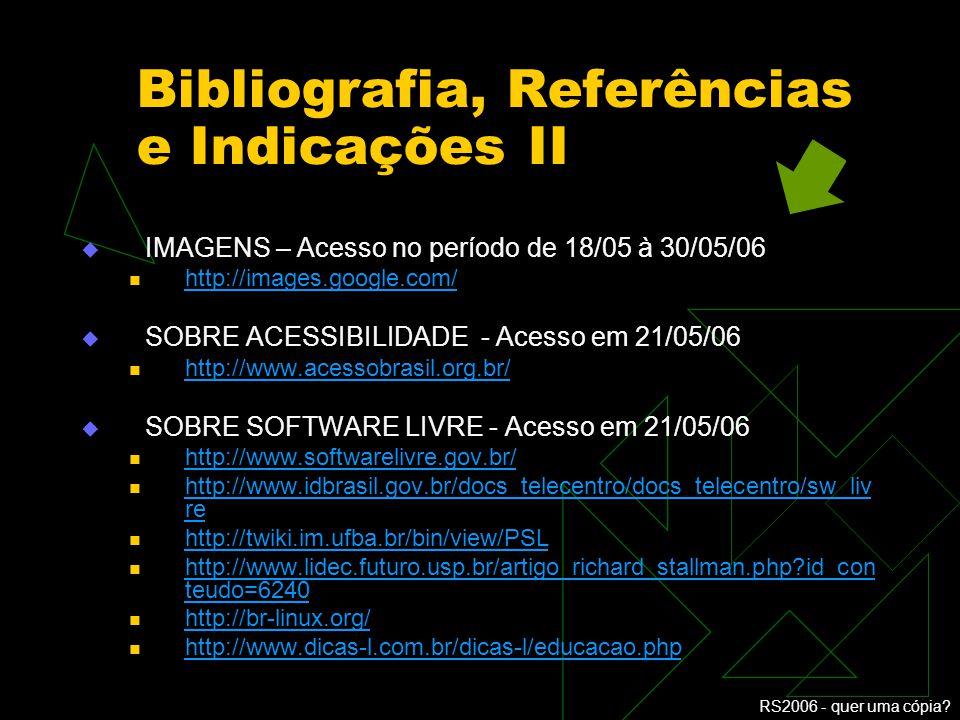 Bibliografia, Referências e Indicações II