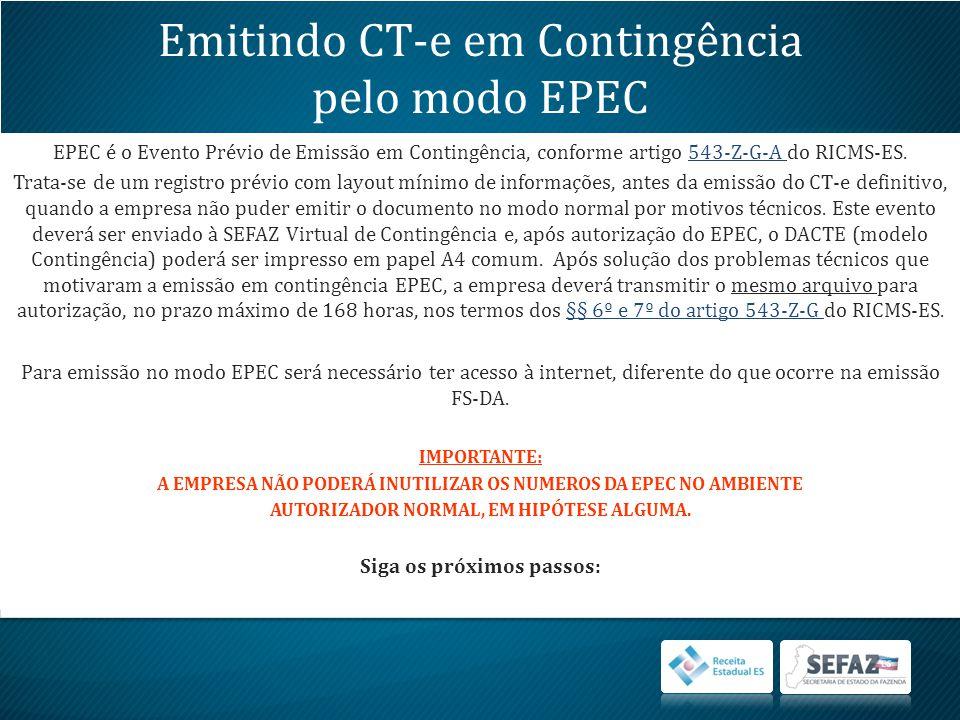 Emitindo CT-e em Contingência pelo modo EPEC
