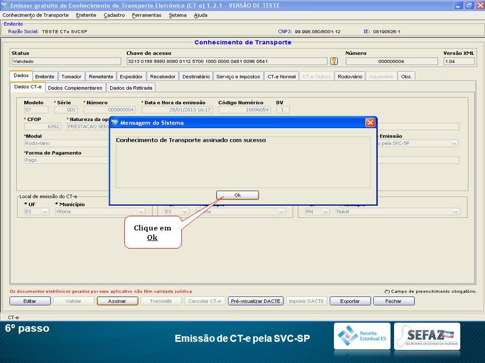 Emissão de CT-e pela SVC-SP
