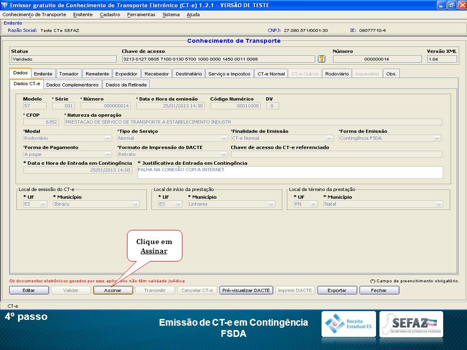 Emissão de CT-e em Contingência