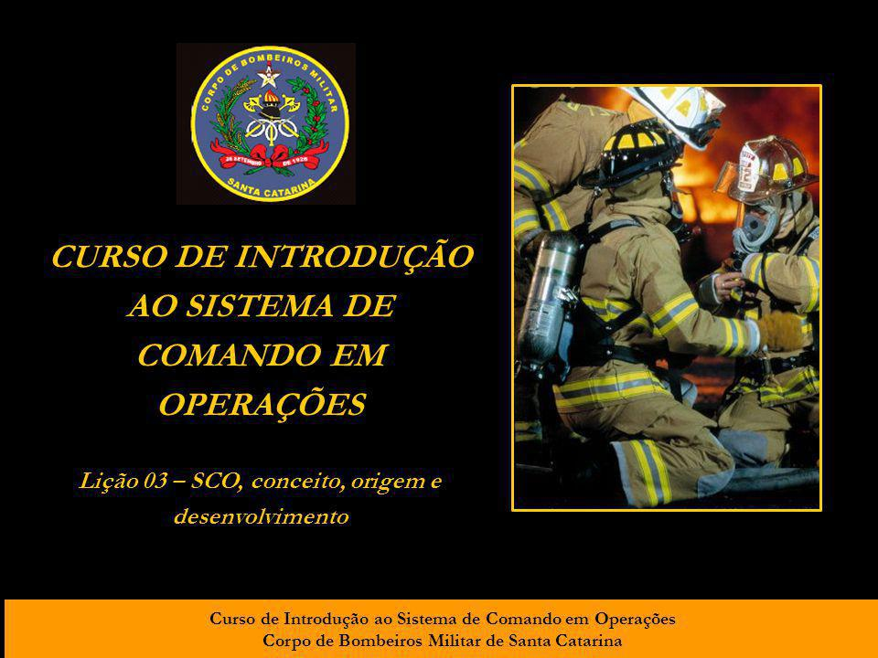 CURSO DE INTRODUÇÃO AO SISTEMA DE COMANDO EM OPERAÇÕES
