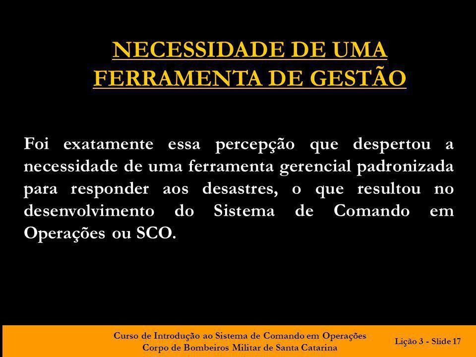 NECESSIDADE DE UMA FERRAMENTA DE GESTÃO
