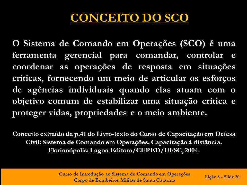 CONCEITO DO SCO