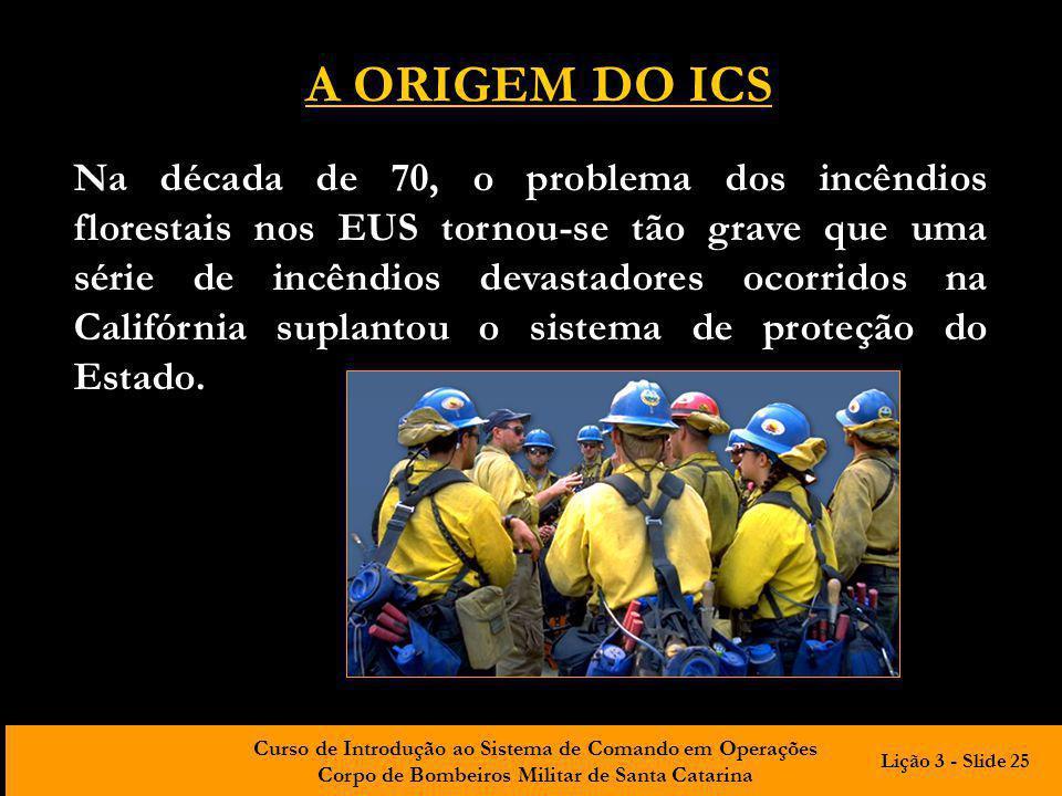 A ORIGEM DO ICS