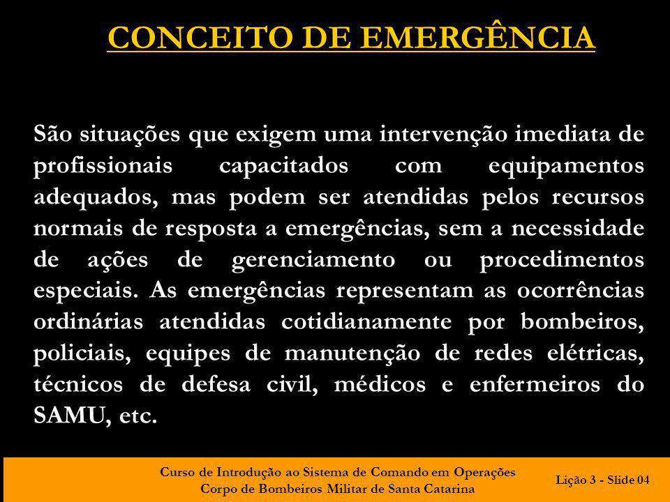 CONCEITO DE EMERGÊNCIA