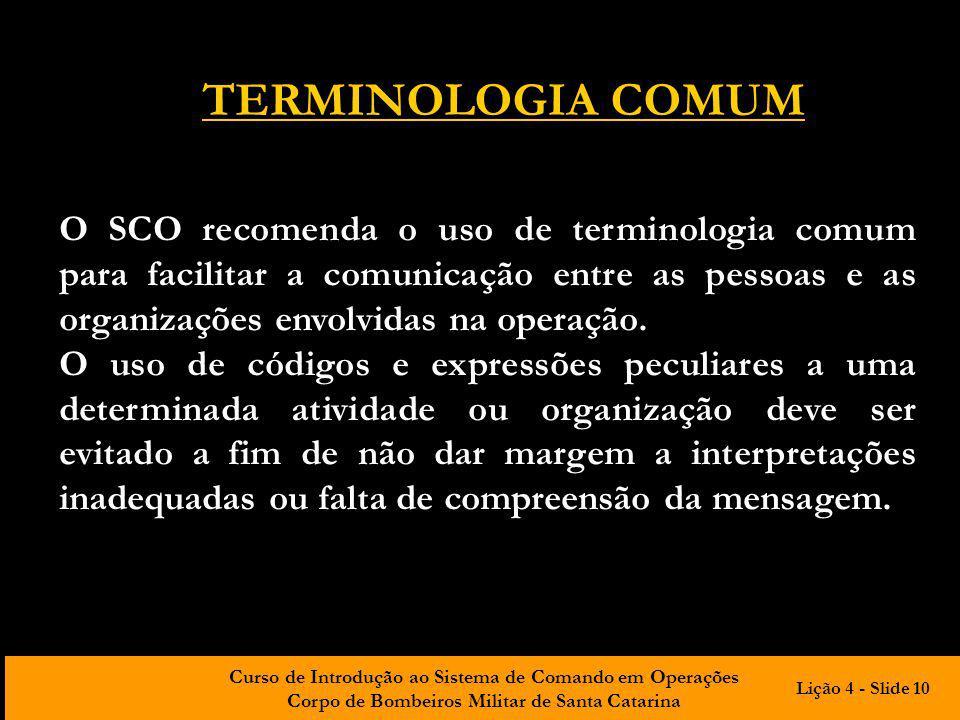 TERMINOLOGIA COMUM