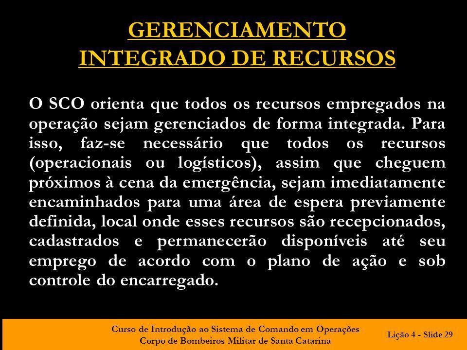 GERENCIAMENTO INTEGRADO DE RECURSOS
