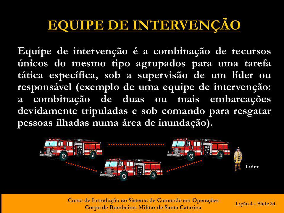 EQUIPE DE INTERVENÇÃO