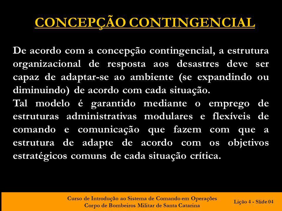 CONCEPÇÃO CONTINGENCIAL