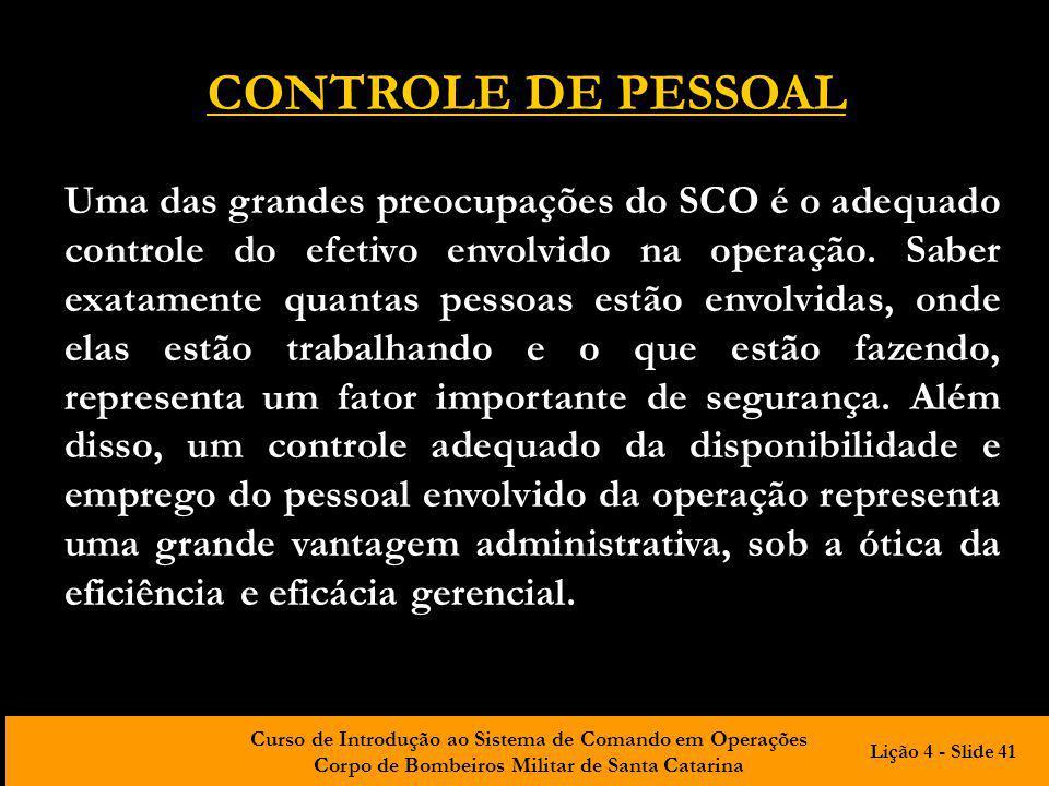 CONTROLE DE PESSOAL