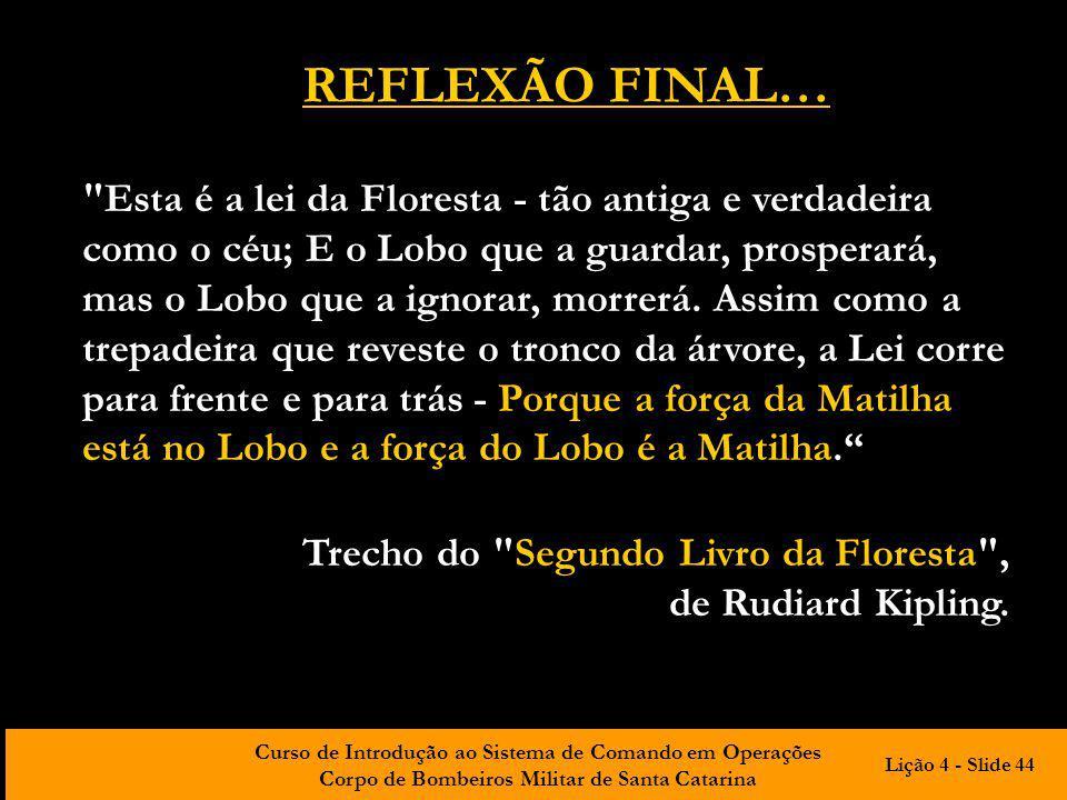 REFLEXÃO FINAL…