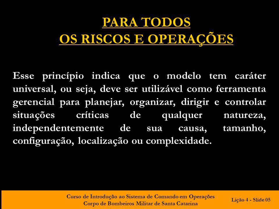 PARA TODOS OS RISCOS E OPERAÇÕES