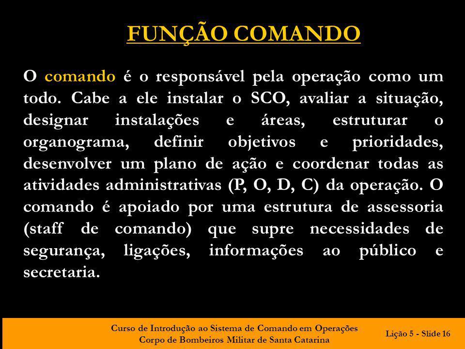 FUNÇÃO COMANDO