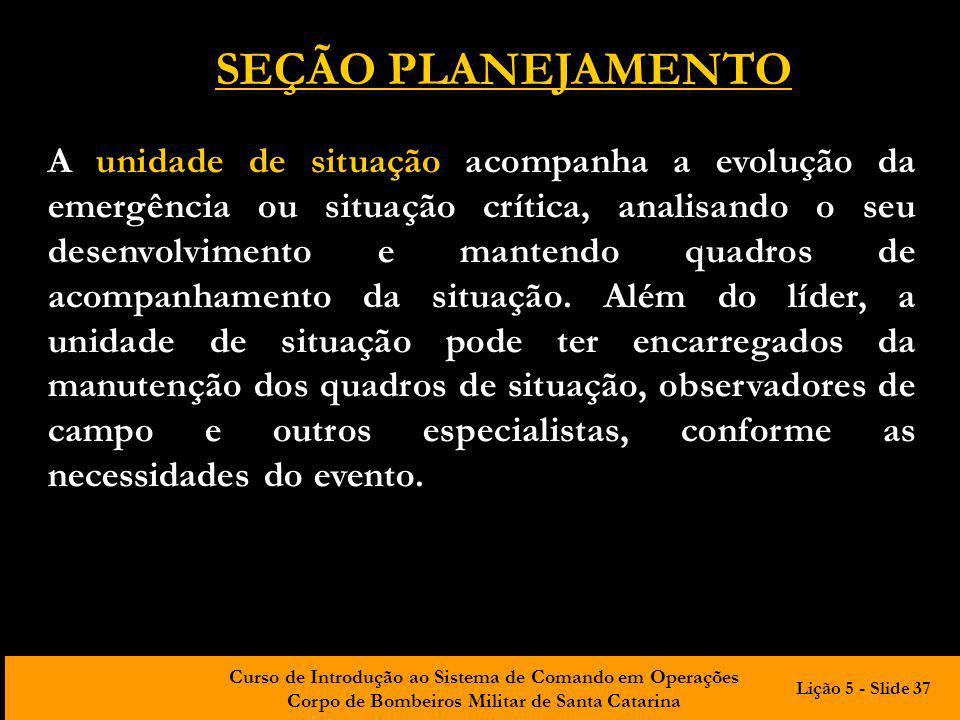 SEÇÃO PLANEJAMENTO