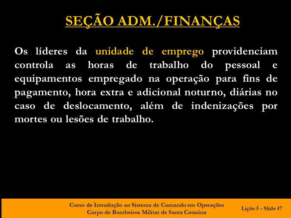 SEÇÃO ADM./FINANÇAS