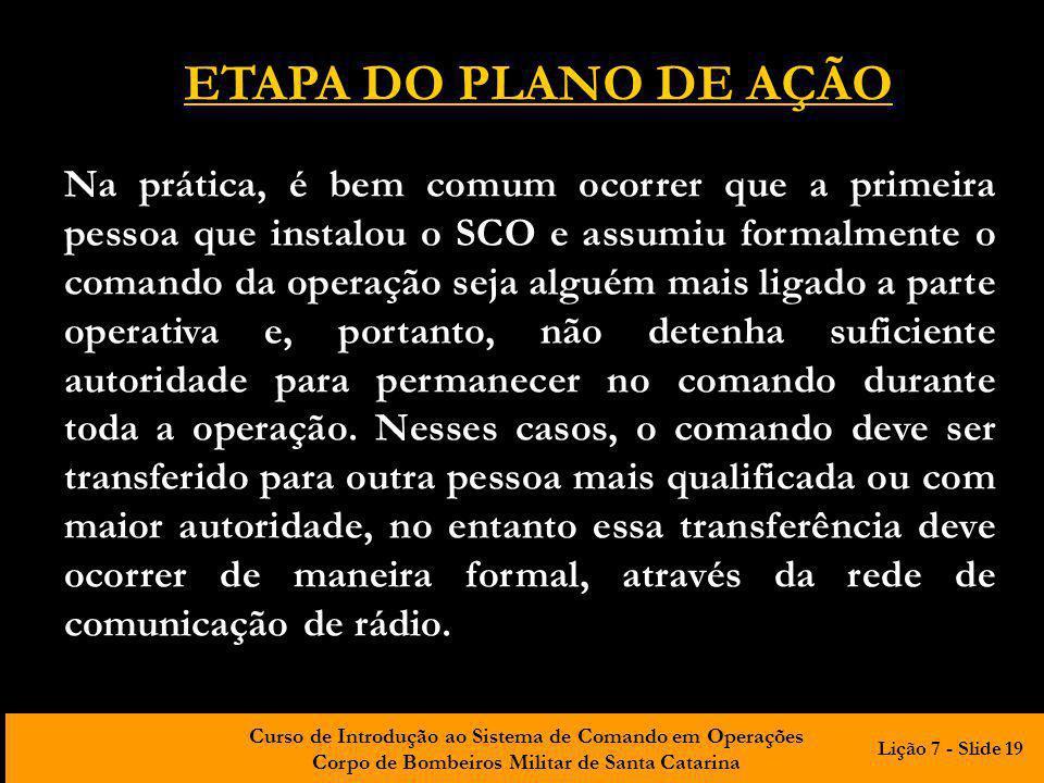 ETAPA DO PLANO DE AÇÃO