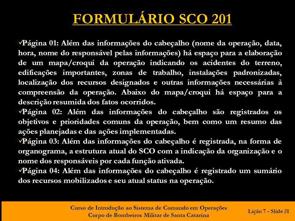 FORMULÁRIO SCO 201