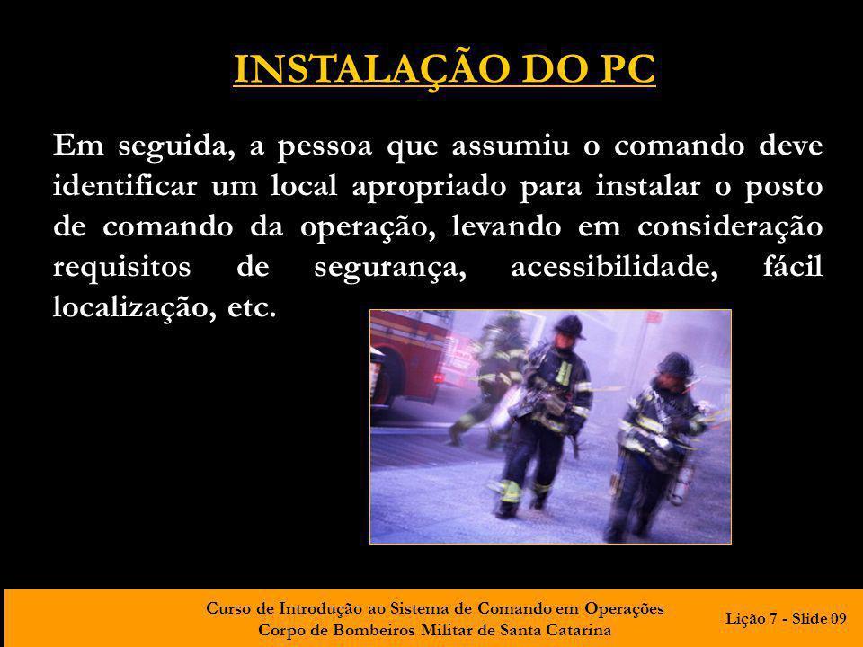 INSTALAÇÃO DO PC