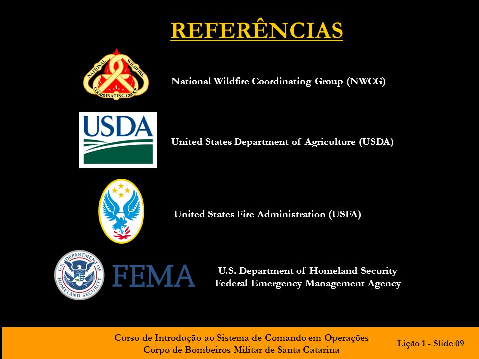 REFERÊNCIAS National Wildfire Coordinating Group (NWCG)
