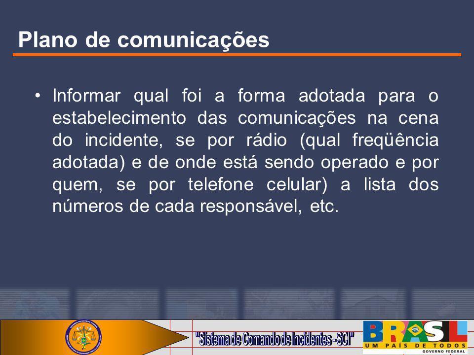 Plano de comunicações