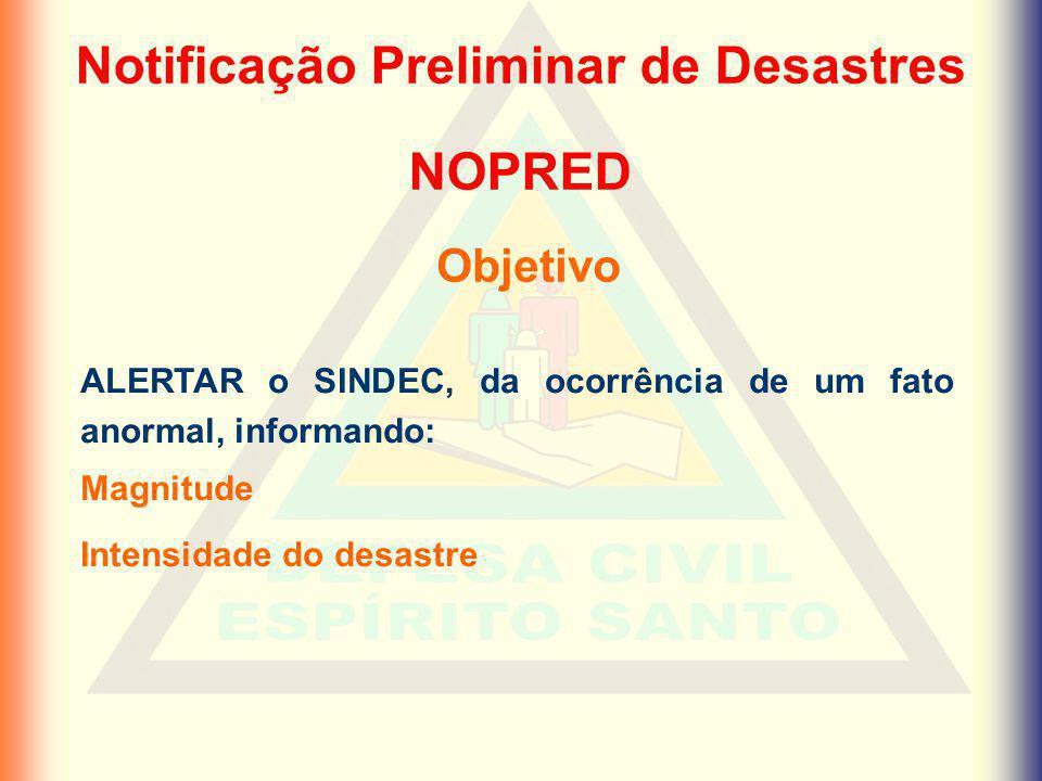 Notificação Preliminar de Desastres
