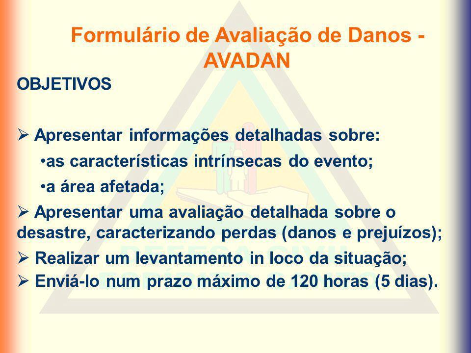 Formulário de Avaliação de Danos - AVADAN