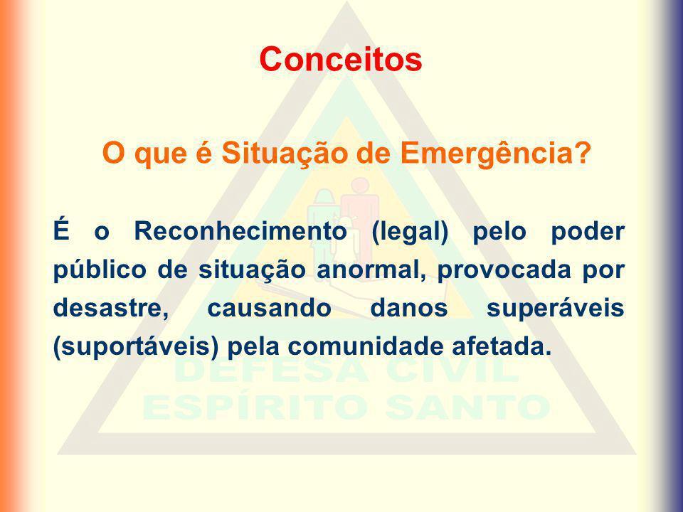 O que é Situação de Emergência
