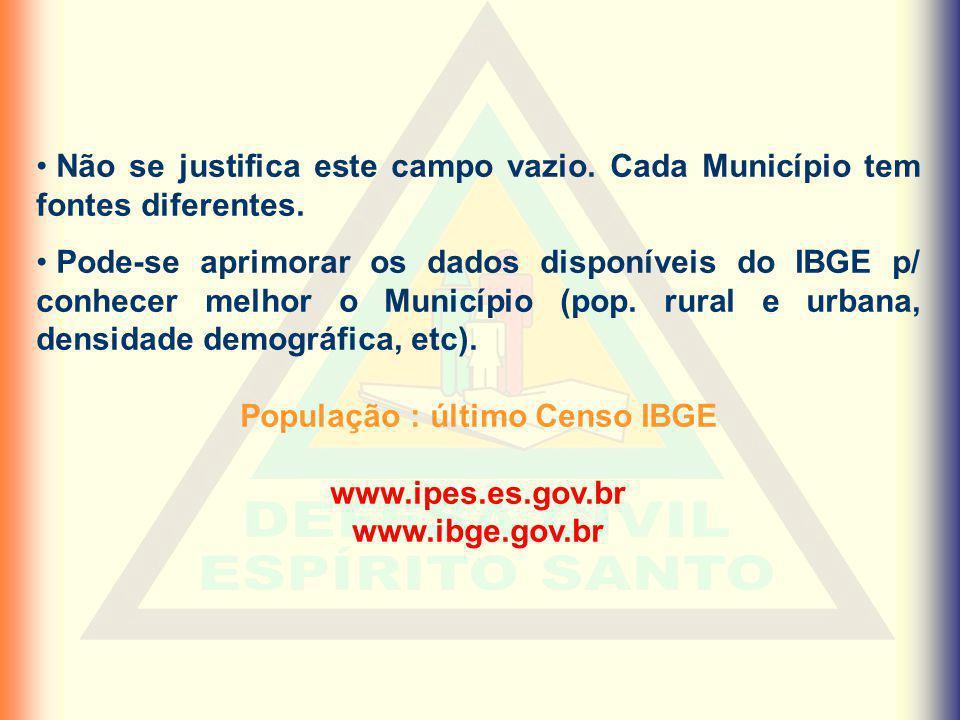 População : último Censo IBGE