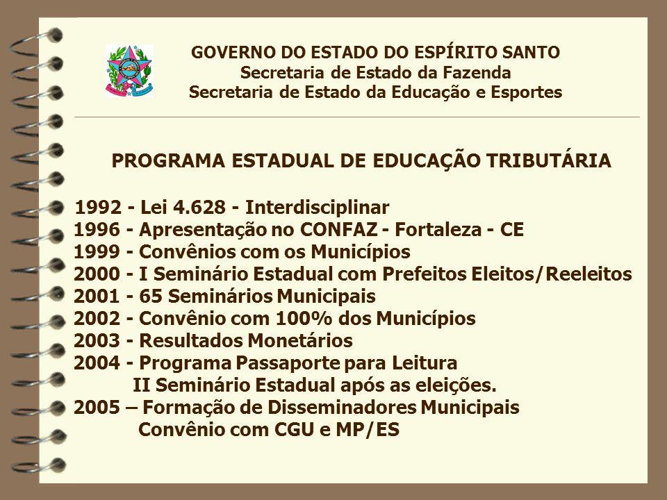 PROGRAMA ESTADUAL DE EDUCAÇÃO TRIBUTÁRIA