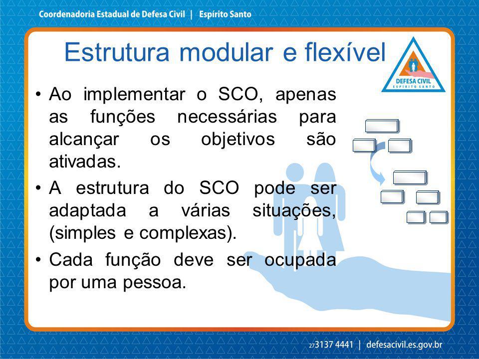 Estrutura modular e flexível