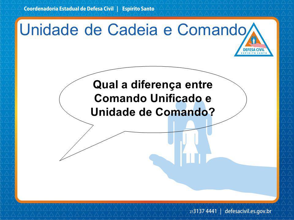 Qual a diferença entre Comando Unificado e Unidade de Comando