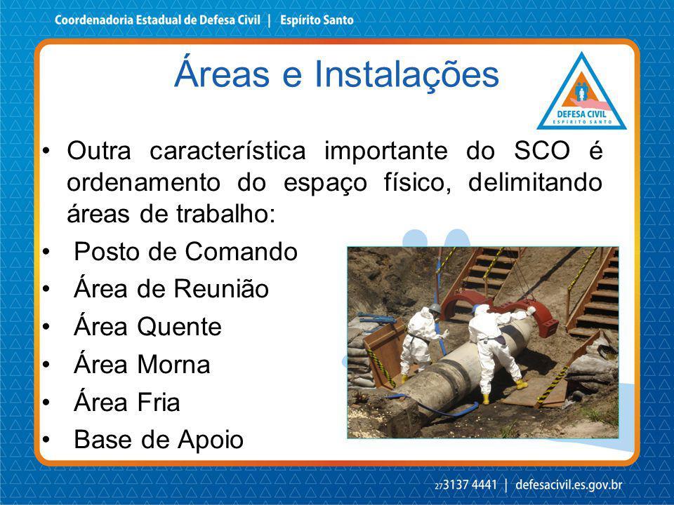 Áreas e Instalações Outra característica importante do SCO é ordenamento do espaço físico, delimitando áreas de trabalho: