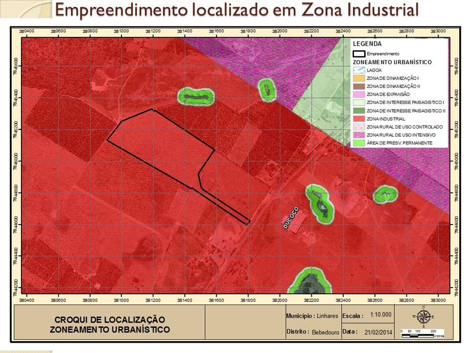 Empreendimento localizado em Zona Industrial