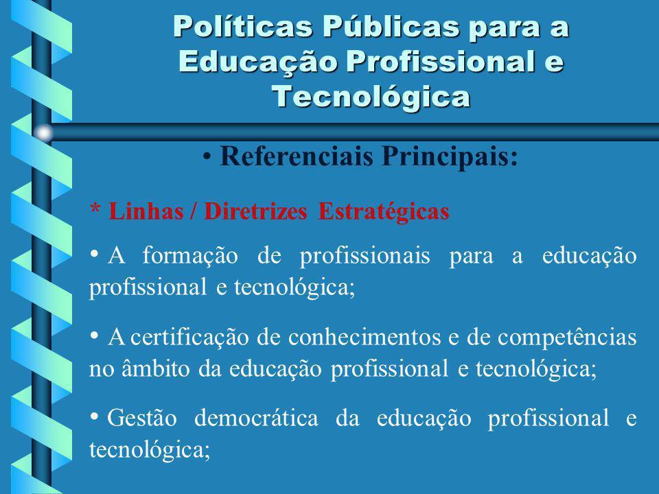 Políticas Públicas para a Educação Profissional e Tecnológica