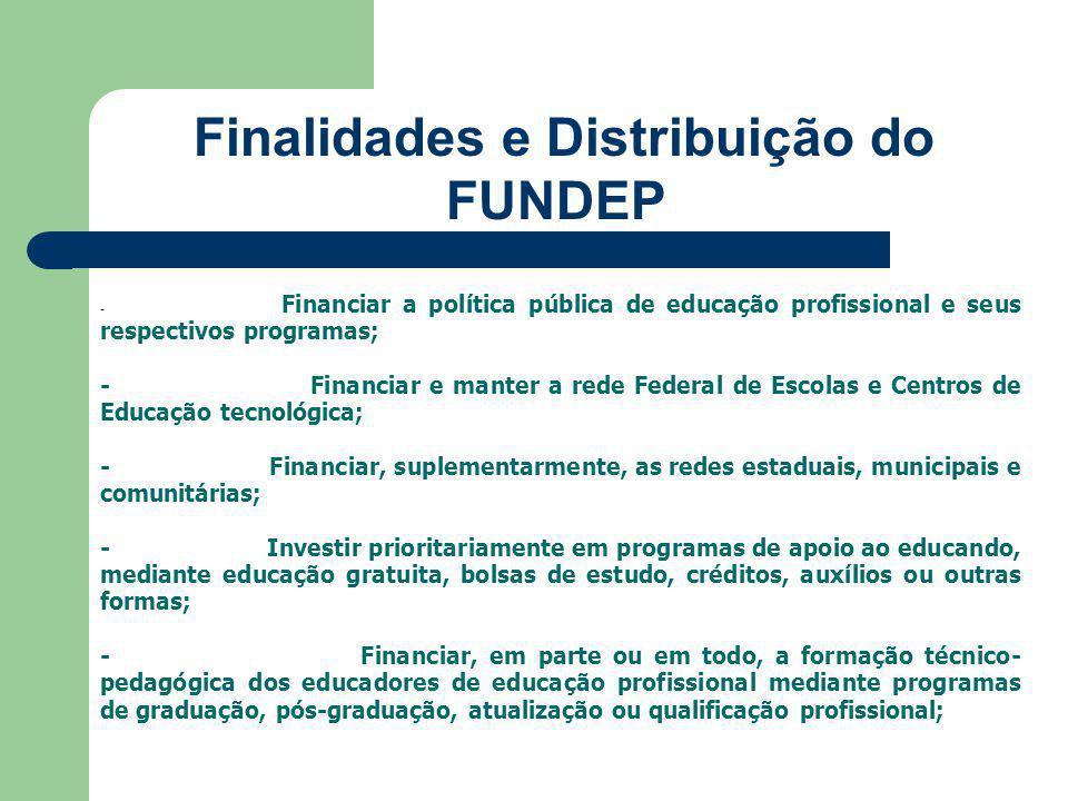 Finalidades e Distribuição do FUNDEP