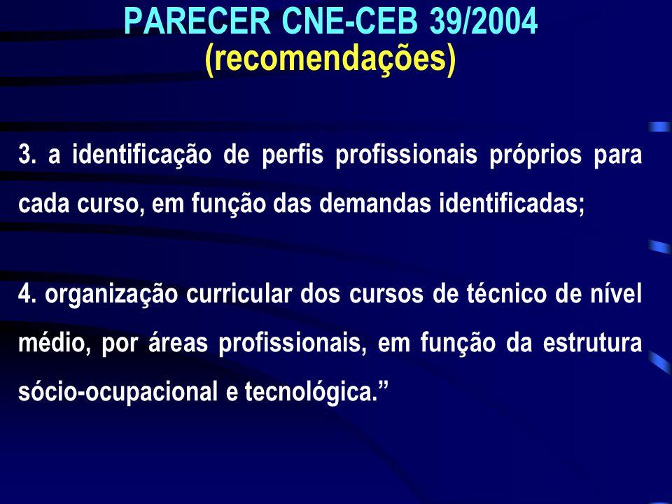 PARECER CNE-CEB 39/2004 (recomendações)
