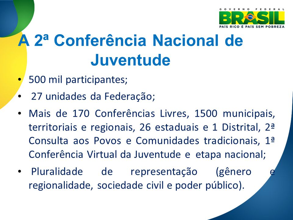 A 2ª Conferência Nacional de Juventude