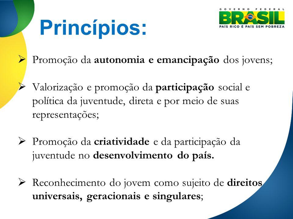 Princípios: Promoção da autonomia e emancipação dos jovens;