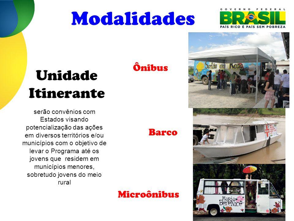 Modalidades Unidade Itinerante Ônibus Barco Microônibus