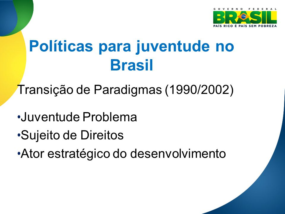 Políticas para juventude no Brasil