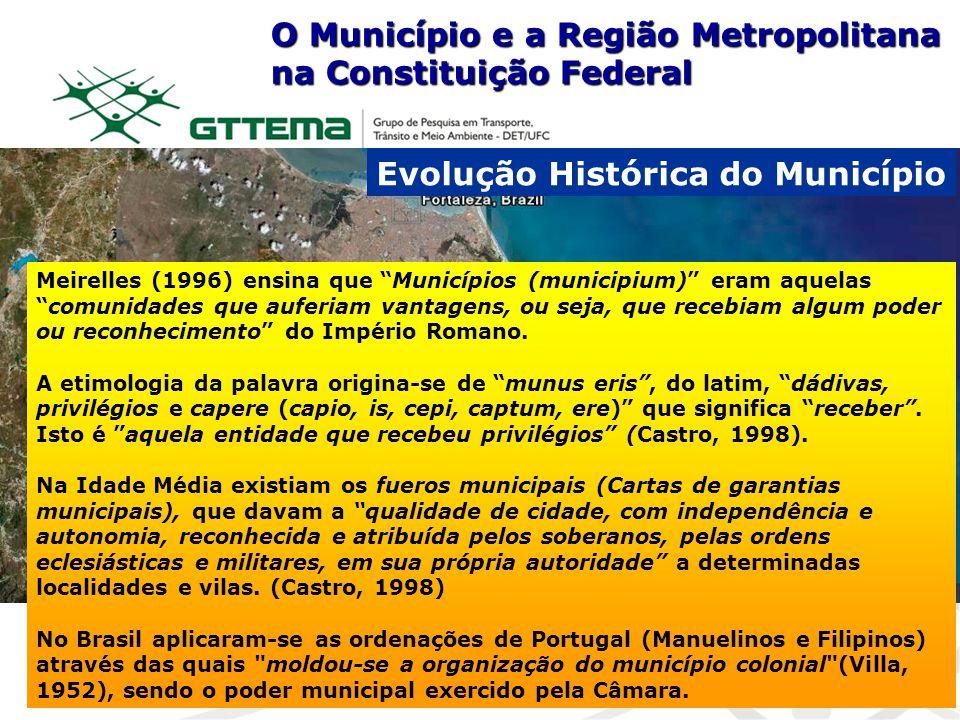 O Município e a Região Metropolitana na Constituição Federal