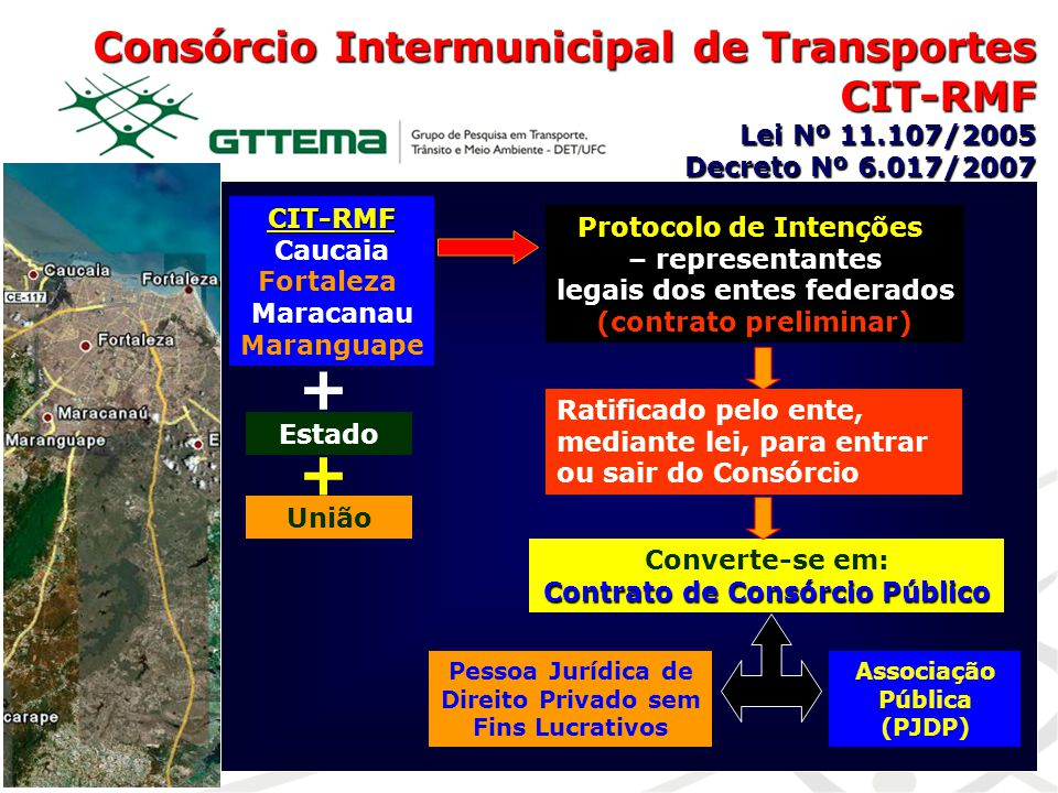 + + Consórcio Intermunicipal de Transportes CIT-RMF Lei Nº 11.107/2005